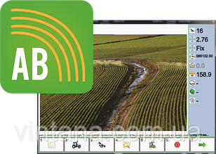 Программное обеспечение А-Б изогнутый  режим для GPS навигатора параллельного вождения