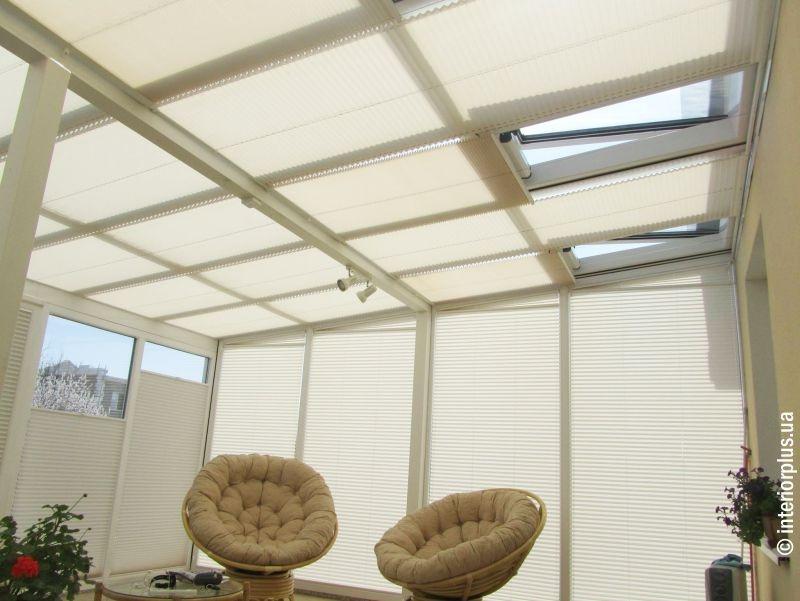 Системы плиссе прямоугольной формы для масардных и потолочных окон