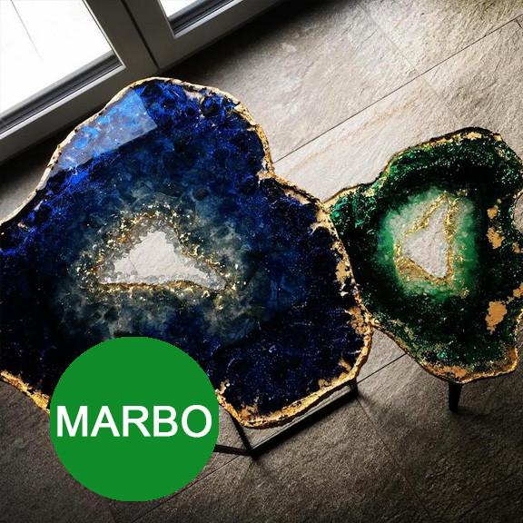 Marbo (Италия) концентриров.пигмент краситель для смол и полиуретанов, изумрудный. 15 мл Марбо