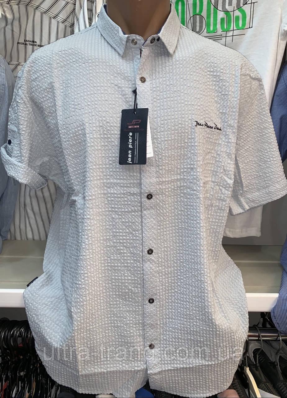 Стильные качественные летние турецкие рубашки с коротким рукавом Jean Piere