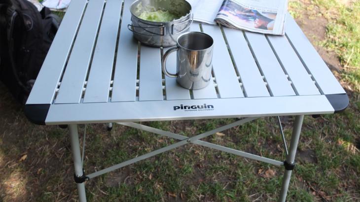 Раскладной алюминиевый стол Pinguin Table S 70x70x75 см