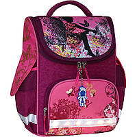 Рюкзак школьный каркасный с фонариками Bagland Успех 12л (5513 143 малиновый 389)