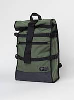 Прочный большой рюкзак мужской качественный влагостойкий на молнии цвета хаки