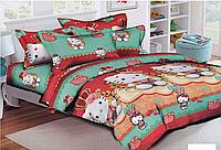 Полуторный постельный комплект Китти, хлопок (Пакистан)