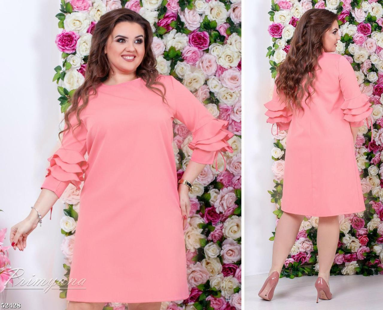 Модное женское платье ткань *Костюмная* 50 размер батал