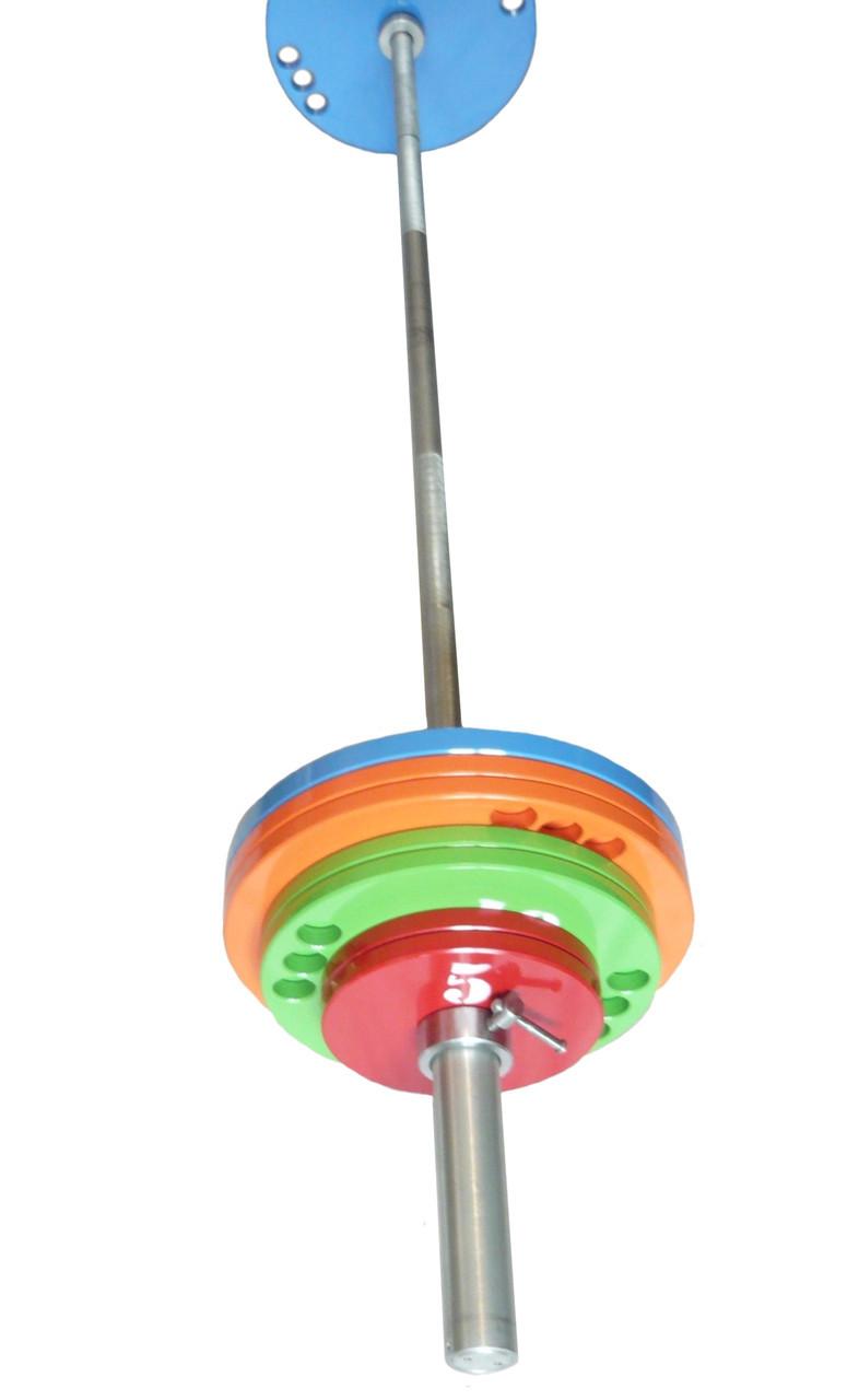Олимпийская штанга 100 кг. D50мм. L1800мм.