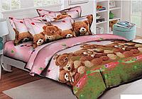 Полуторный постельный комплект Тедди, хлопок (Пакистан)