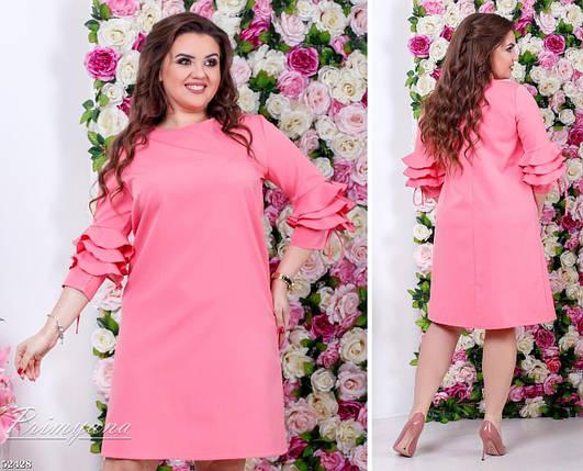 Модное женское платье ткань *Костюмная* 56 размер батал, фото 2
