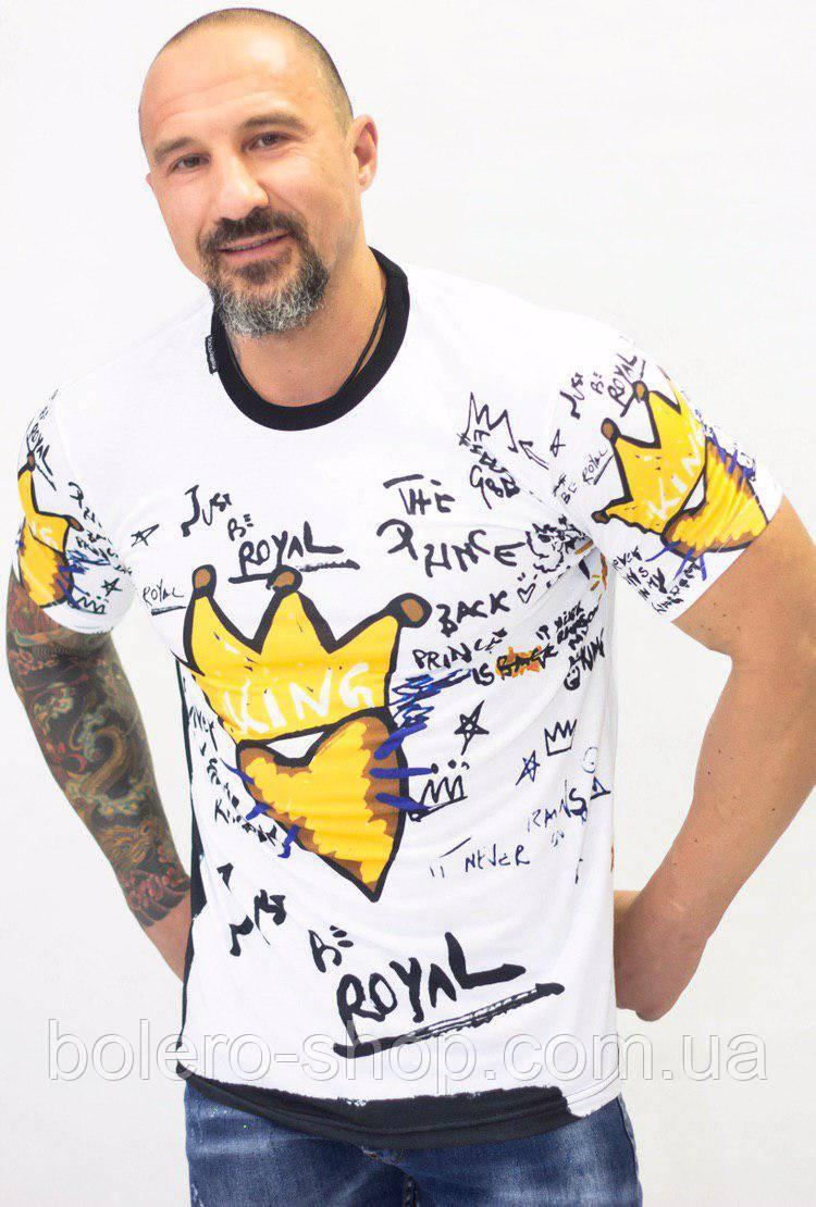 Футболка мужская Dolce Gabana белая Royal Kings