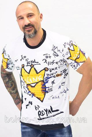Футболка мужская Dolce Gabana белая Royal Kings, фото 2