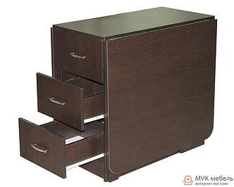 Розкладний стіл-тумба з ящиками КМС-5
