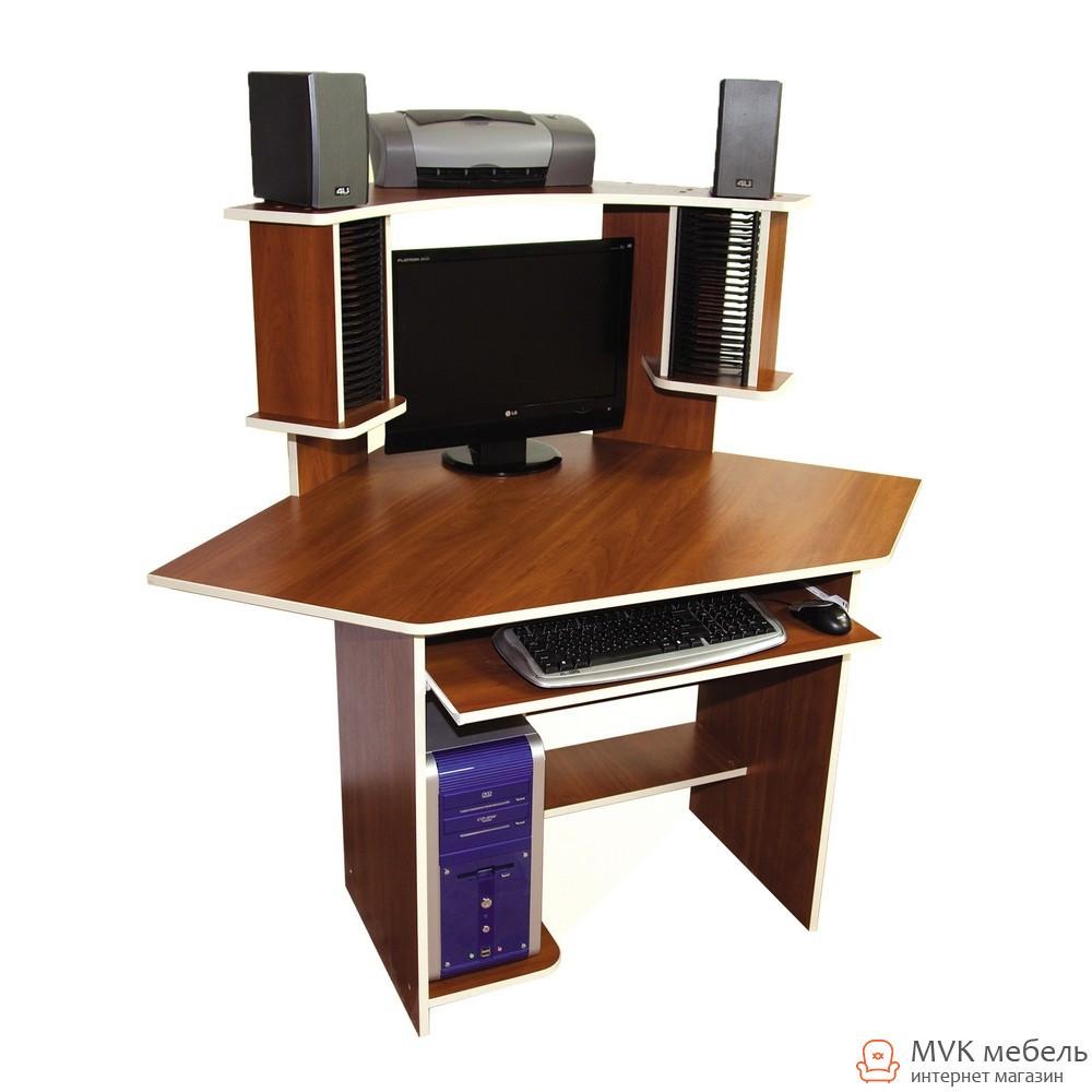 Стол компьютерный с надставкой Ника-3