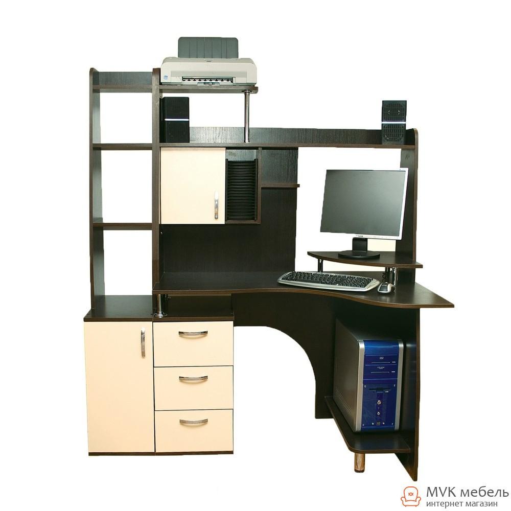 Большой угловой компьютерный стол Ника-6