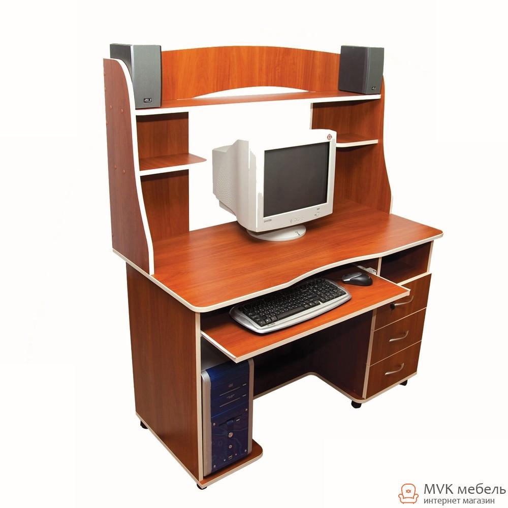 Стол компьютерный с полками Ника-10