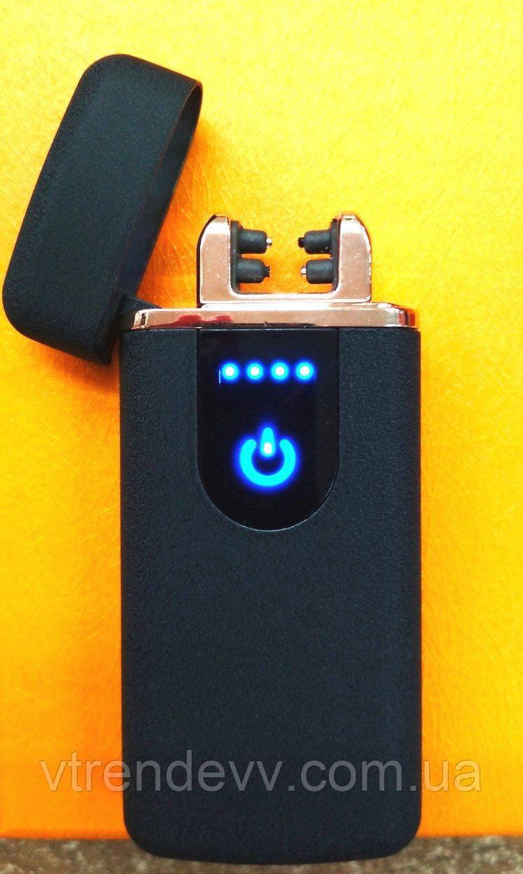 Электроимпульсная зажигалка двойной дуги Lighter с зарядкой от USB
