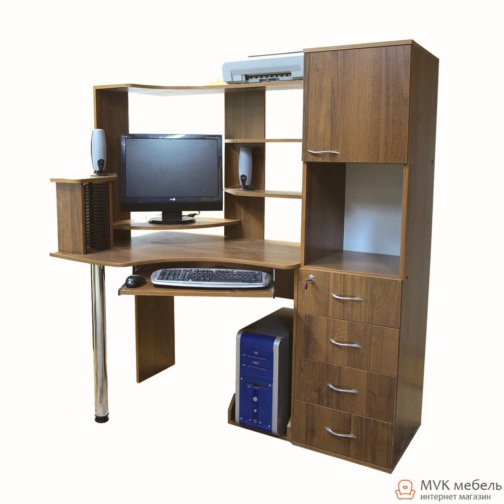 Стол компьютерный с большим пеналом Ника-24