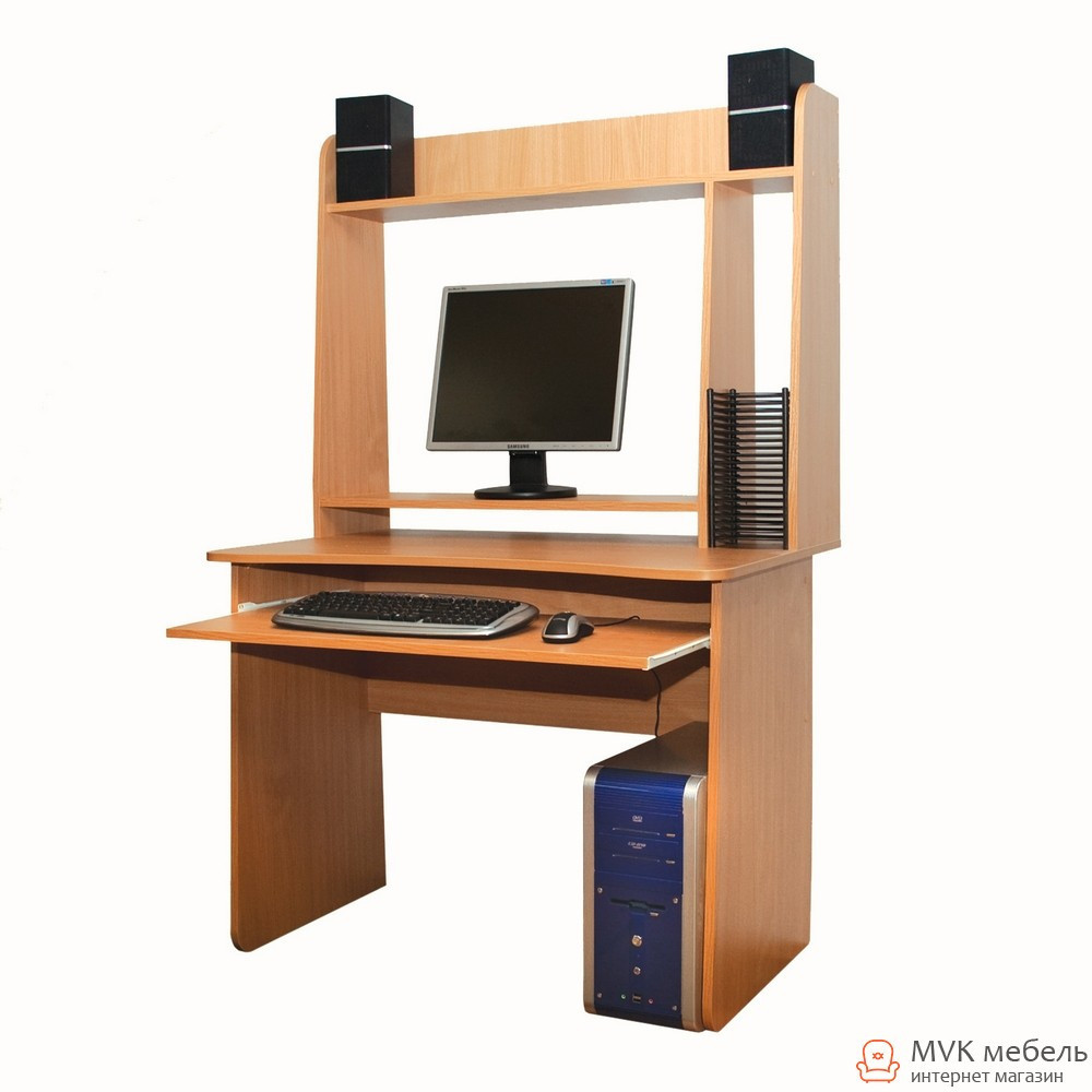 Стол компьютерный с полками Ника-26