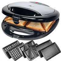 Бутербродница, вафельница, сендвичница 3 в 1 Crownberg Detachable CB-1071