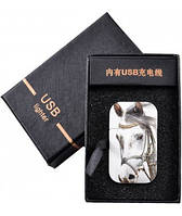 "USB Зажигалка ""Конь"" №4351"