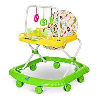 Детские ходунки с игровой панелью и дугой с подвесками BAMBI M 0591 Green Гарантия качества. Быстрая доставка