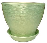 Керамічний горщик для пересадки рослини Ксенія 8 люкс, фото 1