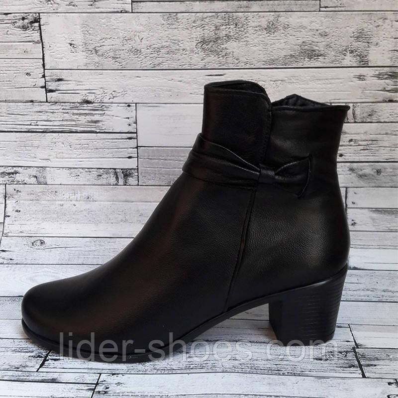 Женские ботинки на каблуке демисезонные