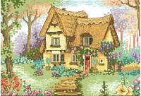 Схема для вышивки на канве Домик в деревне  РКан 3013