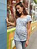 Футболка для беременных и кормящих Juicy (blue)