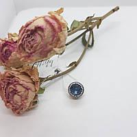 Серебряный шарм в стиле Pandora синий мистик