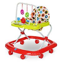Детские ходунки с игровой панелью и дугой с подвесками BAMBI M 0591 Red Гарантия качества. Быстрая доставка