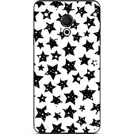 Чехол с картинкой силиконовый для Meizu 15 Lite Черные звездочки