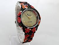 Часы женские - Geneva platinum -  циферблат золотистый, фото 1