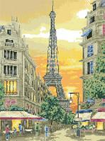 Схема для вышивки на канве Париж.Эйфелева башня РКан 3017