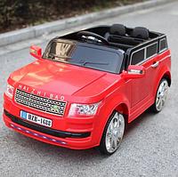 Детский электромобиль с пультом джип Land Rover T-7835 Красный