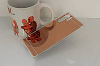 Чехол Mirror case для Huawei P30 Pro силикон зеркальный розовое золото