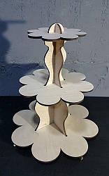 Підставка скляна для капкейків (3 яруси)
