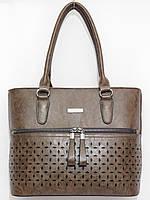 Сумка деликатная два наружных кармана, цвет коричневый, фото 1