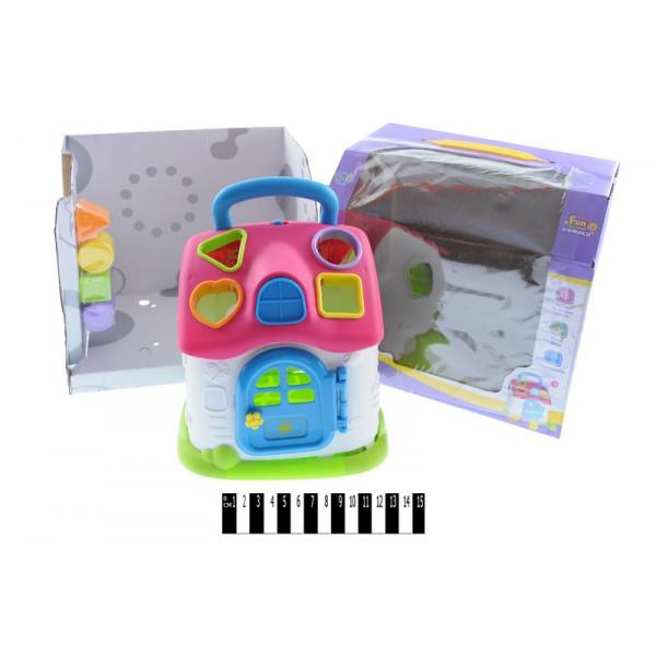 """Логическая игрушка Домик  """"Дом логика"""" - сортер, звук, свет, 855-32A Будинок-логіка"""