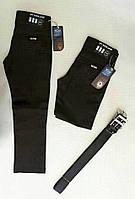 Классические школьные котоновые синие брюки, на мальчика 5-8 лет