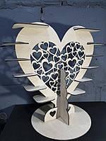 Подставка для сладостей Сердце (12 подставок)