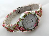 Часы женские - Geneva platinum -  циферблат белый, soft tach, фото 1