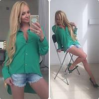 Блузка Зеленая фрак