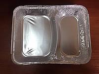 Контейнер пищевой алюминиевый на два деления Cs2l 100шт