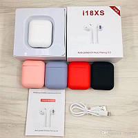 ✅AirPods беспроводные наушники i18 XS TVS, реплика Apple, качественный звук✅ БЕЛЫЙ ЦВЕТ👈🏻⚪️