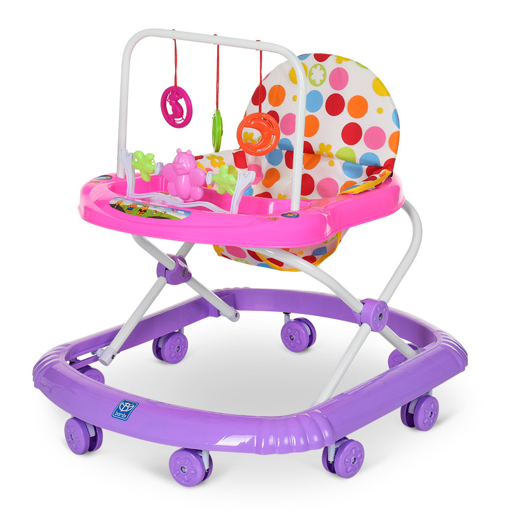 Детские музыкальные ходунки Bambi М 0591-2 фиолетовый с подвесными игрушками