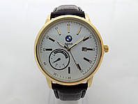 Мужские часы  BMW - Power Pack, корпус золотистый, циферблат белый, фото 1