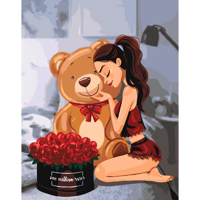 Рисование по номерам One million roses KHO4606 Идейка 40 х 50 см (без коробки)