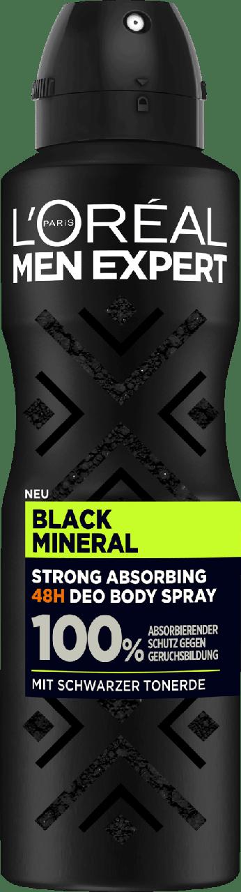 Дезодорант-спрей для мужчин L'ORÉAL Men Black Mineral, 150 мл.