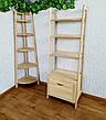 """Стеллаж этажерка из натурального дерева """"Лофт Премиум"""", фото 5"""