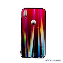 Накладка TPU + Glass Gradient Aurora Xiaomi Mi Play red